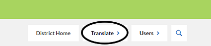Translate button location