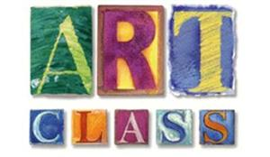 The words art class in block letter