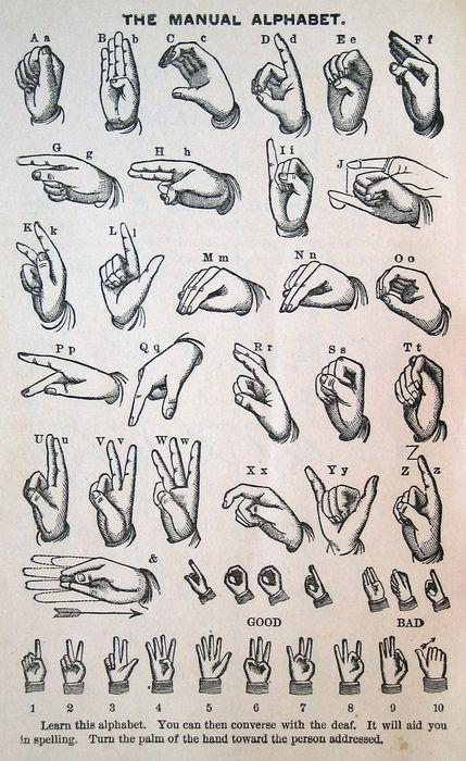 asl manual alphabet