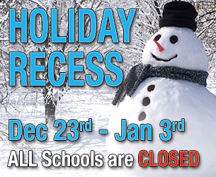 Holiday Recess 2019-2020