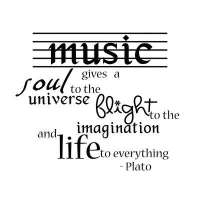 a quote by plato about music