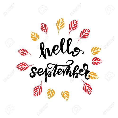 Hello September with leaves pic